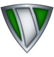 steel shield with flag nigeria vector image vector image