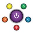 purple on button vector image