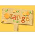 Orange Sign Board vector image