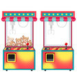 Arcade game machines with dolls vector image