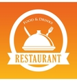 Restaurant dish design vector image