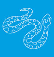 spotted snake icon outline style vector image