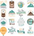 Travel motivation badge set vector image