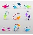 Volume set of cursors graphics vector image