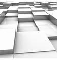White brick wall with random height bricks vector image