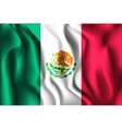 Flag of Mexico Rectangular Shaped Icon vector image