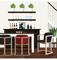 dining room decorating ideas for home vector image