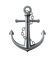 Anchor on white background vector image vector image