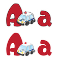 letter A ambulance vector image vector image