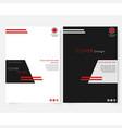 Black square annual report cover design template vector image