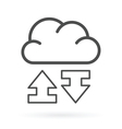 data exchange cloud service icon vector image