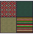 Seamless Knitted Pattern Set vector image