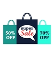 Super sale flat vector image
