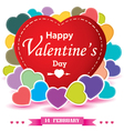 Valentines Day and colorful heart isolated on vector image