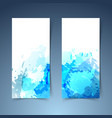 watercolor art splatter abstract modern banner vector image
