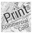 Booming Commercial Printing Business Word Cloud vector image