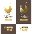 White wine logo vector image vector image