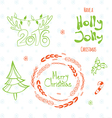 Set of graphic Christmas tags vector image vector image