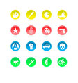riot color icons isolated on white vector image vector image