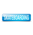 skateboarding blue square 3d realistic isolated vector image