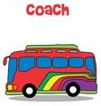 Coach bus cartoon art vector image