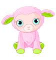 Cute lamb character vector image
