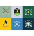 Field hockey logo set sport badges with vector image