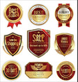 free shipping and luxury golden labels collection vector image