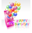 happy birhtday vector image