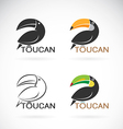 image of an toucan bird design vector image