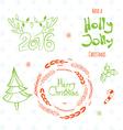 Set of graphic Christmas tags vector image
