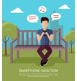 Smartphone Addiction Banner vector image
