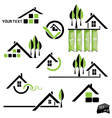 Set of houses icons for real estate business vector image vector image