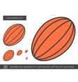 Cocoa bean line icon vector image