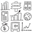 doodle of element business various vector image