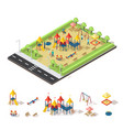 child playground isometric concept vector image