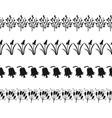 black silhouette of plants decorative border of vector image vector image