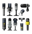 dictaphone microphone and other professional vector image