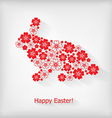flower hare vector image