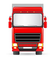 isolated red truck vector image