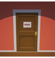 Private Room - Red vector image