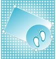 baby boy announcement vector image