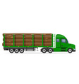 semi truck trailer concept 09 vector image