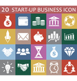 20 startup business icon vector image vector image