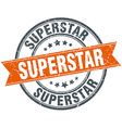 superstar round orange grungy vintage isolated vector image