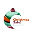 Abstract geometric Christmas banner vector image
