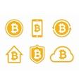 bitcoin logo Bitcoin icon bitcoin vector image
