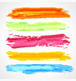 brush strokes template vector image