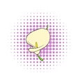 Calla flower icon comics style vector image