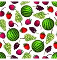 Fruits seamless pattern wallpaper background vector image